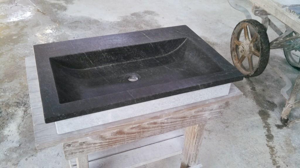 "27"" drop in Sweep - VA soapstone sink"