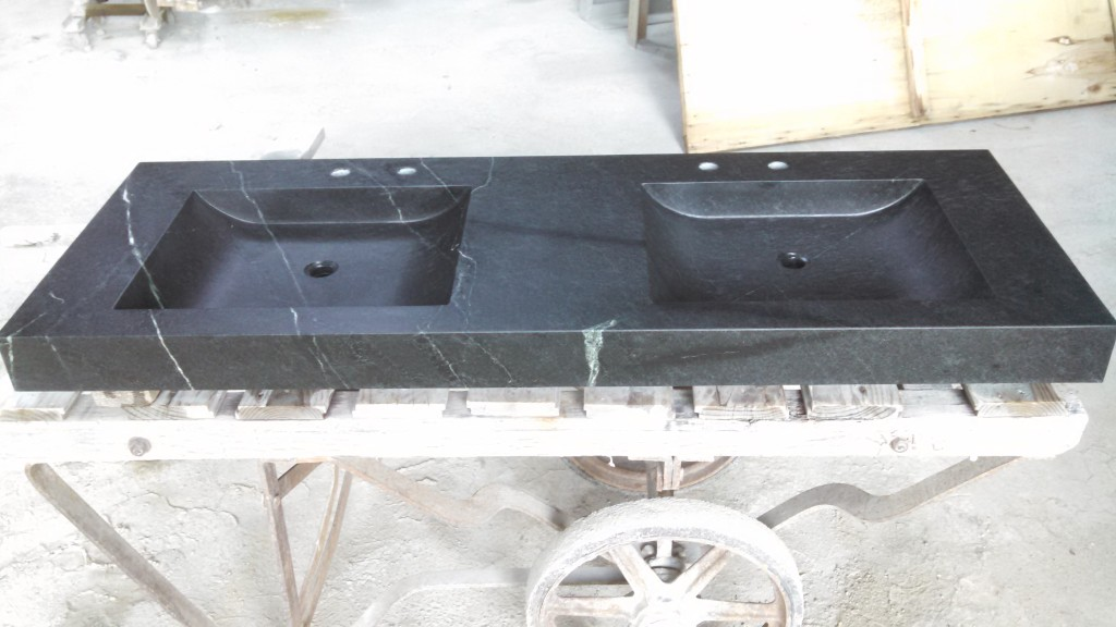 Solid soapstone vanities for Park Tavern Grille