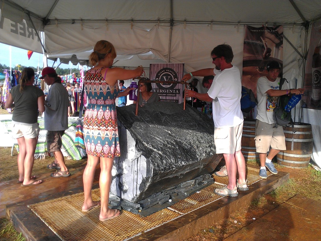 Thirsty LOCKN festival goers drink deep from soapstone water stations